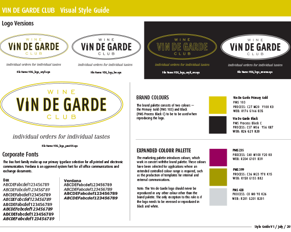 Brand Launch – Vin de Garde Wine Club