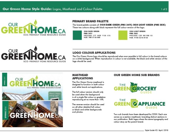 Brand Development – Our Green Home