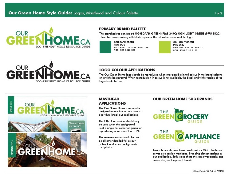 Our Green Home Style Guide