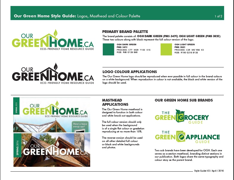 Up marketing brand development our green home up marketing for Green home guide